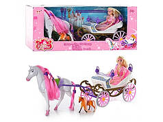 Карета с лошадью для куклы арт.23386