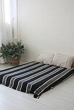 Плед Koloco кольорова Смуга з бамбука (чорний графіт)