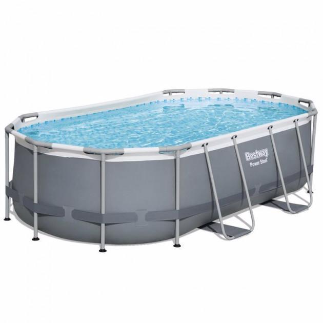 Каркасний басейн 56620, 424x250x100 см (фільтр-насос дозатор, сходи)
