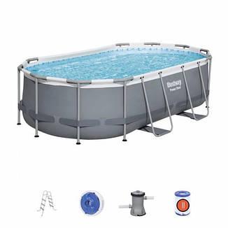 Каркасний басейн 56620, 424x250x100 см (фільтр-насос дозатор, сходи), фото 2