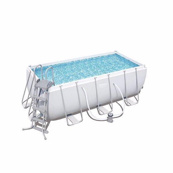 Каркасний басейн 56456, 412х201х122 см (фільтр-насос дозатор, сходи)