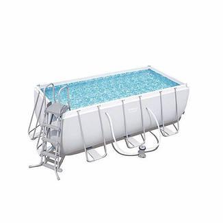 Каркасний басейн 56456, 412х201х122 см (фільтр-насос дозатор, сходи), фото 2