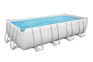 Прямоугольный каркасный бассейн Bestway 56670 Power Steel Frame Pool (488х244х122см), фото 2