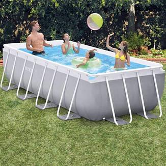 Прямоугольный каркасный бассейн Intex 26790 (400 x 200 x 122 см) Prism Frame (В комплекте картриджный, фото 2