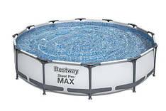 Круглий каркасний басейн 56416 Steel Pro Max( 366х76см)