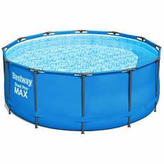 Круглий каркасний басейн 15427 (366 x 133 см) Steel Pro Max Frame Pool, фото 3