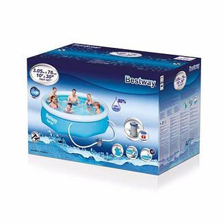 Надувной семейный бассейн BestWay 57270 (305х76 см) Fast Set, фото 2
