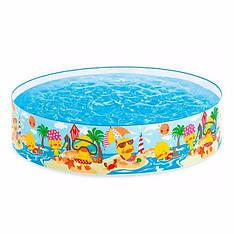 Дитячий каркасний басейн Intex 58477 (122-25 см) Качки