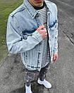 Мужская серая джинсовая куртка, фото 4