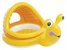 """Дитячий басейн """"Равлик"""" з м'яким надувним дном INTEX 57124"""