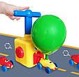 Дитячі повітряні гонки на машинах з кулькою Air Balloon Car жовтий, набір для надування кульок, фото 4