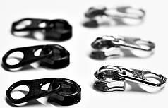 Бегунок спираль №3 цвет никель,черный (Турция)