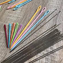 Игла стальная длинная 17,5 см для сшивания вязаных изделий.
