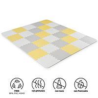 Килимок-пазл Kinderkraft Luno Yellow, 30 елементів (KKMLUNOYEL0000)