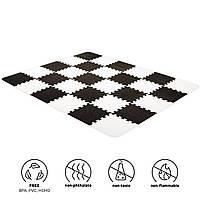 Килимок-пазл Kinderkraft Luno Black, 30 елементів (KKMLUNOBLK0000)