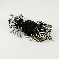 Биркодержатель з шпилькою 1000 шт. Чорний з никелированой шпилькою