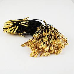 Биркодержатель з шпилькою 1000 шт. Чорний з золотою шпилькою