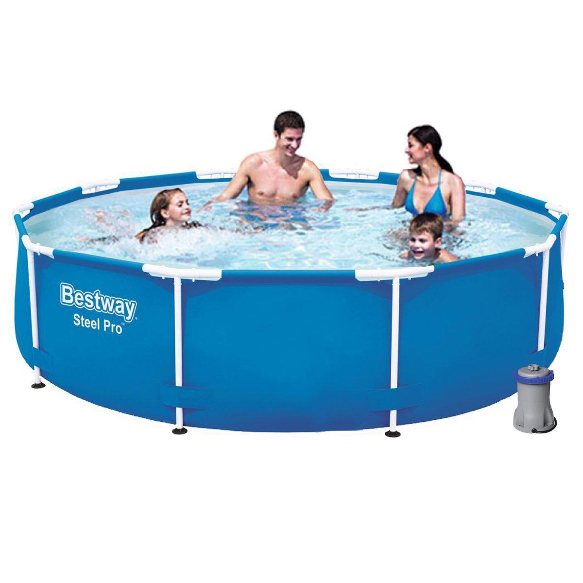 Круглий каркасний басейн 56681, 366 x 76 см Steel Pro Frame Pool