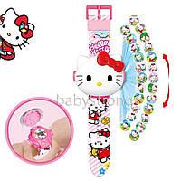 Проекционные детские часы Хелло Китти Hello Kitty - 24 вида изображения героев .Projector Watch.