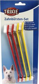 Двусторонняя зубная щетка для собак 4 штуки, Trixie TX-2558