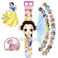 Проекционные детские часы Принцессы - Princess - 24 вида изображения героев .Projector Watch.