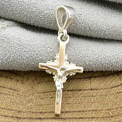 Серебряный крестик с золотом 366БС размер 30х12 мм вес 1.6 г