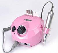 Фрезерный аппарат для маникюра, педикюра и наращивания ногтей Nail Drill, US-202, на 35000 оборотов, pink