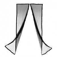 Антимоскитная сетка штора на магнитах Magic Mesh на двери 210 см на 100 см