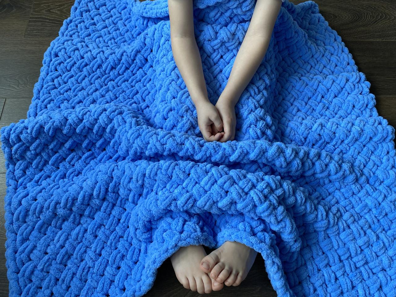 Плюшевый детский плед, размер 100/100 см.
