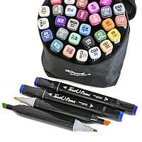Набор маркеров для рисования Touch (36 шт) скетч маркеры спиртовые | двусторонние фломастеры для художников