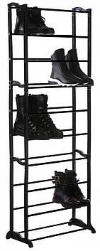 Стойка для обуви Amazing Shoe Rack DL73 на 30 пар Black