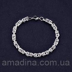Мужской браслет широкий зі сталі, браслет з нержавіючої сталі візантійське плетіння, браслет мужской стальной