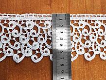 М083С. Кружево макрамэ белое 7,5 см