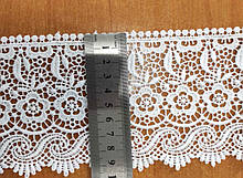 М084С. Мереживо синтетичне біле 9,5 см