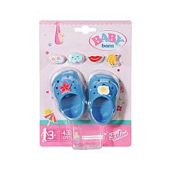 "Обувь для куклы Беби Борн - ""Праздничные сандалии со значками"" (голуб) Baby Born, Zapf Creation 3+ (828311-5)"