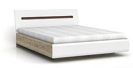 Кровать LOZ/160 Azteca 160х200 BRW белый/дуб san remo