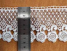М086С. Мереживо синтетичне біле 8 см