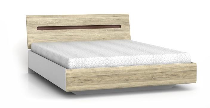 Кровать LOZ/160 Azteca 160х200 BRW дуб san remo/белый глянец