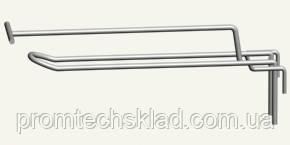 Крючки двойные с ценникодержателем торговые на сетку