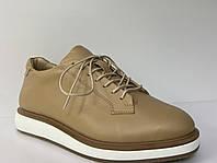 Горчичные кожаные туфли