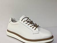 Белая кожаные туфли
