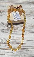 Янтарные бусы из натурального светлого  янтаря (Украина)