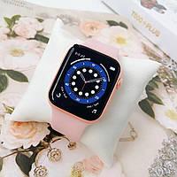 Умные Смарт Часы Smart Apple Watch IWO T500 + Plus HiWatch 6 Розовые (Пудра) Pink Sand