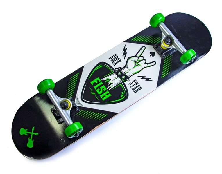 Дерев'яний СкейтБорд від Fish Skateboard Rock Star