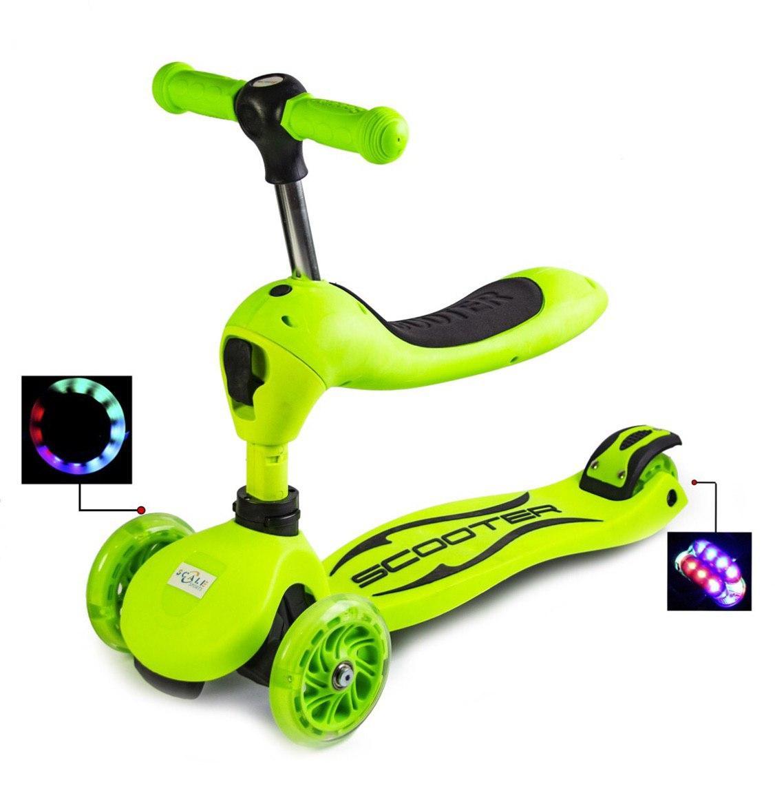 Самокат-трансформер Scale Sports Green