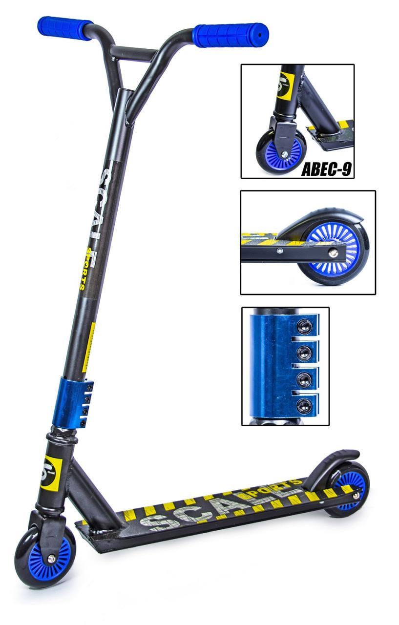 Трюковый самокат Scale Sports Tornado черно-синий