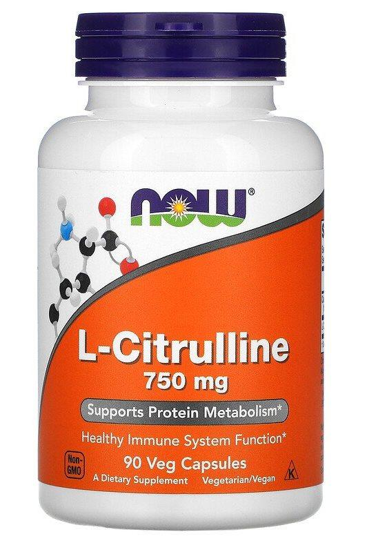 Now L-Citrulline 750 mg 90 veg caps