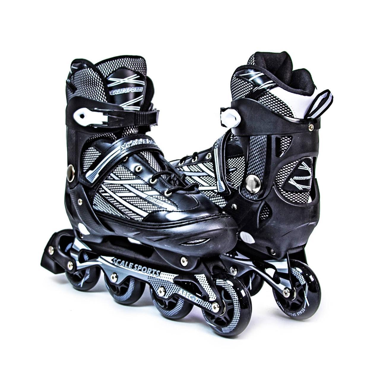 Ролики Scale Sports. Adult Skates. XL LF 935 Black 41-44
