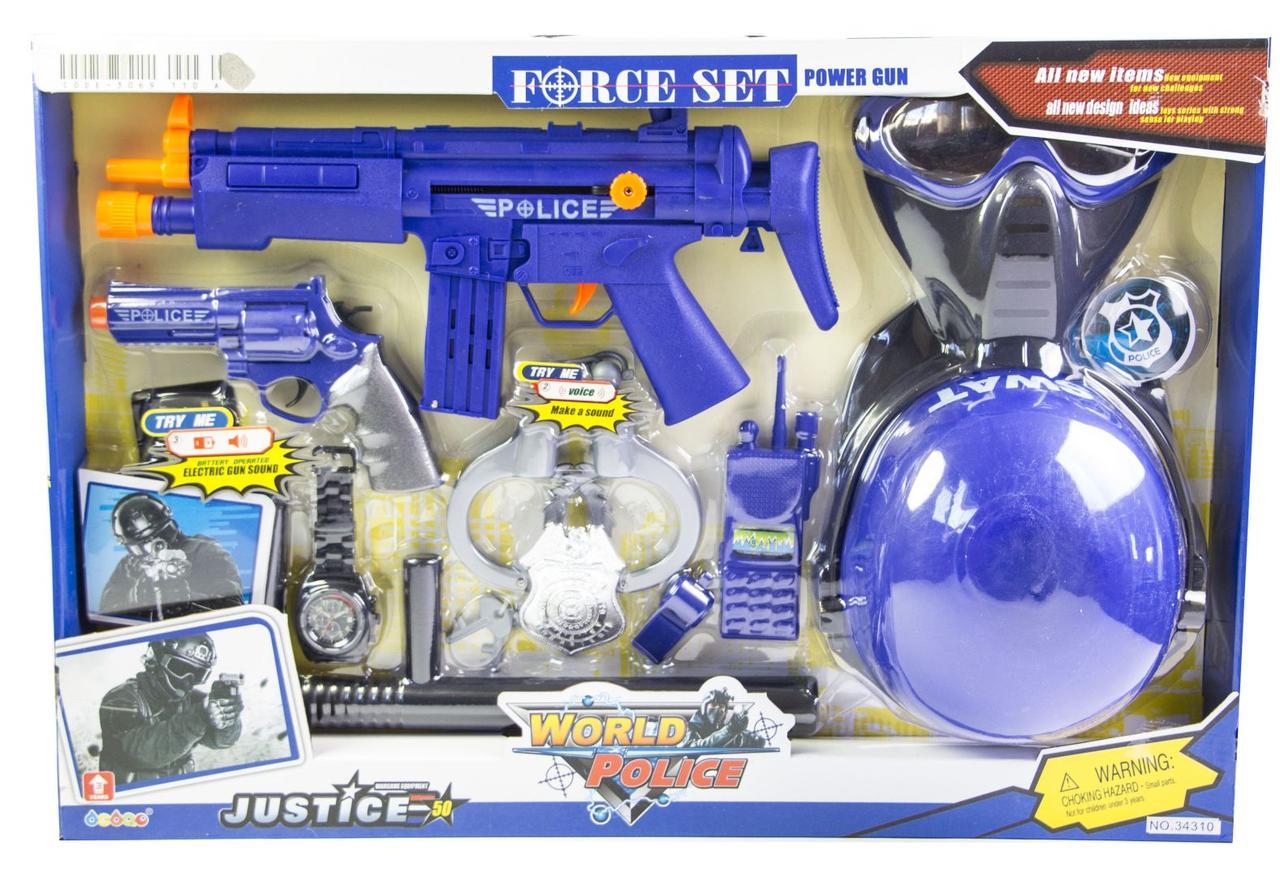 Дитячий набір поліцейський SWAT з каскою і маскою (34310)