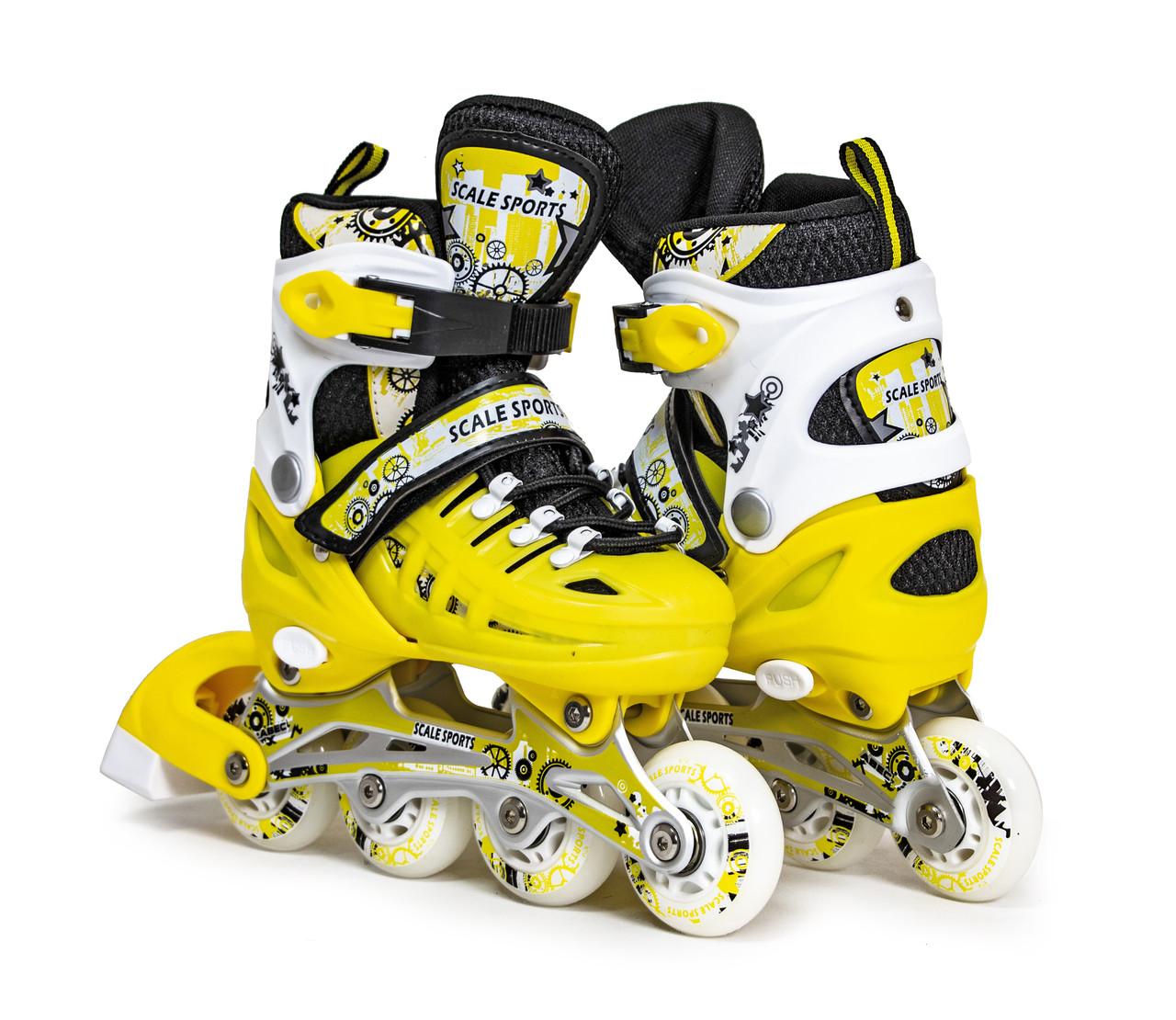 Ролики Scale Sports. Yellow LF 905, розмір 34-37